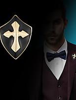 abordables -Hombre Zirconia Cúbica Estilo retro / Elegante Broche - Cruz, Creativo Vintage, Moda, Antigua Roma Broche Dorado / Plata Para Fiesta / Diario