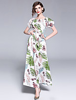 cheap -Maxlindy Women's Vintage / Sophisticated A Line Dress - Floral Patchwork