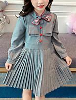 economico -Bambino Da ragazza A strisce Manica lunga Vestito