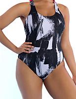 cheap -Women's Basic Strapless One-piece - Camouflage High Waist