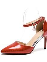 Недорогие -Жен. Обувь Синтетика Весна лето Удобная обувь Обувь на каблуках На шпильке Золотой / Серебряный / Красный