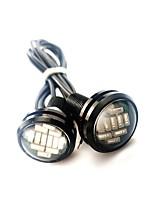 baratos -2pcs Nenhum Carro Lâmpadas 2.4 W SMD 4014 240 lm 12 LED Luz Diurna Para Universal Universal Universal