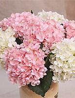 baratos -Flores artificiais 1 Ramo Clássico / Solteiro (L150 cm x C200 cm) Casamento / buquês de Noiva Hortênsia Flor de Mesa