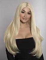 Недорогие -Не подвергавшиеся окрашиванию Полностью ленточные Парик Бразильские волосы Прямой Блондинка Парик Стрижка боб 150% С детскими волосами Блондинка Жен. Средняя длина