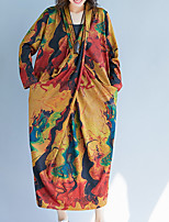 cheap -women's going out oversized tunic dress low waist maxi deep v