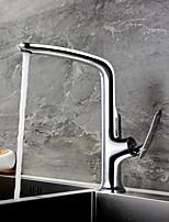 cheap -Kitchen faucet Chrome Standard Spout Centerset