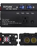 Недорогие -XUYUAN Мотоцикл / Автомобиль Инвертор питания DC 12V-AC 110V 100-110 V 600 W Назначение Универсальный / Мотоциклы