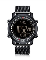 cheap -NAVIFORCE Men's Sport Watch Military Watch Japanese Japanese Quartz 30 m Water Resistant / Water Proof Alarm Calendar / date / day Stainless Steel Band Digital Luxury Fashion Black - Black / Yellow