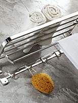 Недорогие -Держатель для полотенец Складной Современный Нержавеющая сталь / железо 1шт Двуспальный комплект (Ш 200 x Д 200 см) На стену