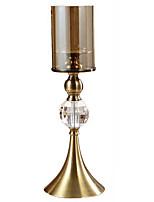 Недорогие -Европейский стиль Железо Подсвечники На одну свечу 1шт, Свеча / подсвечник