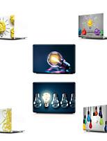 """Недорогие -MacBook Кейс Композиция с логотипом Apple / 3D в мультяшном стиле ПВХ для Новый MacBook Pro 13"""" / MacBook Air, 13 дюймов / MacBook 12''"""