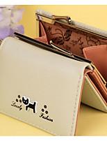 cheap -Women's Bags PU(Polyurethane) Wallet Pattern / Print Black / Purple / Brown