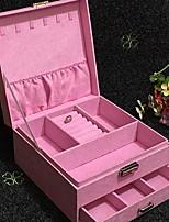 Недорогие -Место хранения организация Косметологический макияж Смешанные материалы Квадратная Многослойный