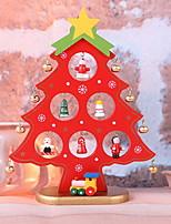 baratos -Enfeites de Natal Férias De madeira / Plástico Quadrada Novidades Decoração de Natal