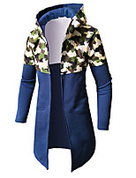cheap -Men's Basic / Military Hoodie - Color Block / Camouflage