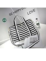 cheap -Women's Bags Polyester / PVC(PolyVinyl Chloride) Tote Rivet Black / White