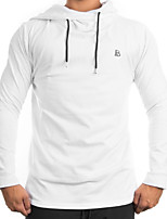 cheap -Men's Sports Long Sleeve Hoodie - Letter Hooded