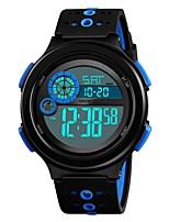 Недорогие -SKMEI Муж. Для пары Наручные часы электронные часы Цифровой 50 m Защита от влаги Календарь Секундомер силиконовый Группа Цифровой На каждый день Мода Черный - Черный Красный Синий / Хронометр