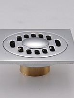 Недорогие -Слив Новый дизайн / Cool Современный Нержавеющая сталь / железо 1шт истощать Установка на полу