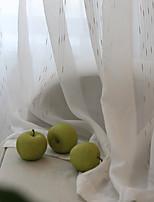 Недорогие -Занавески Оттенки Гостиная В полоску Полиэфирная смесь Жаккардовое переплетение