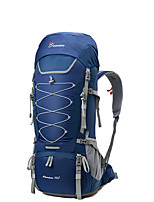cheap -70 L Rucksack - YKK Zipper Outdoor Hiking 100g / m2 Polyester Knit Stretch Red, Green, Blue