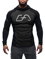 cheap -Men's Sports Long Sleeve Hoodie - Geometric / Color Block Hooded