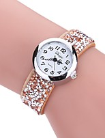 cheap -Women's Bracelet Watch Chinese New Design / Casual Watch / Imitation Diamond PU Band Casual / Fashion Black / White / Blue