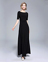 cheap -SHE IN SUN Women's Elegant Slim Swing Dress Maxi / Fall