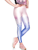 abordables -Mujer Diario Básico Legging - Bloques Media cintura