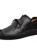 Недорогие -Муж. Обувь для новинок Кожа Весна лето Винтаж / На каждый день Мокасины и Свитер Для прогулок Дышащий Черный / Оранжевый / Желтый