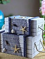economico -Conservazione Organizzazione Collezione di gioielli di legno Forma rettangolare Portatile