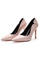 Недорогие -Жен. Балетки Кожа Лето Обувь на каблуках На шпильке Черный / Телесный