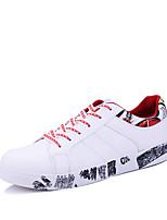 Недорогие -Муж. Комфортная обувь Полиуретан Осень На каждый день Кеды Нескользкий Контрастных цветов Красный / Зеленый / Черно-белый