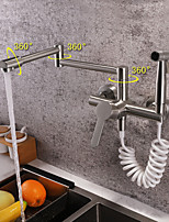 cheap -Kitchen faucet - Contemporary Nickel Brushed Standard Spout / Pot Filler Wall Mounted