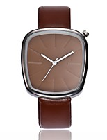 cheap -Men's Women's Dress Watch Wrist Watch Quartz New Design Casual Watch PU Band Analog Casual Fashion Black / Brown - Black Brown White / Brown One Year Battery Life