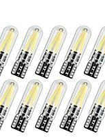 Недорогие -10 шт. T10 Автомобиль Лампы 2 W COB 170 lm 2 Светодиодная лампа Лампа поворотного сигнала Назначение