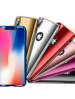 economico -Custodia Per Apple iPhone X / iPhone 8 Resistente agli urti / Placcato Integrale Tinta unita Resistente PC per iPhone X / iPhone 8 Plus / iPhone 8