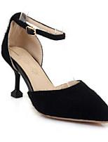 Недорогие -Жен. Обувь Замша Весна Удобная обувь Обувь на каблуках На шпильке Черный / Бежевый / Желтый