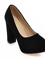 Недорогие -Жен. Комфортная обувь Замша Осень Обувь на каблуках На шпильке Белый / Черный / Красный