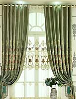 baratos -Sheer Curtains Shades Quarto Sólido Algodão / Poliéster Estampado