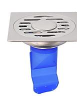 Недорогие -Слив Новый дизайн / Cool Современный Нержавеющая сталь / железо / силикагель 1шт истощать Установка на полу