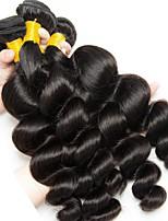 billiga -3 paket Indiskt hår / Mongoliskt hår Löst vågigt Obehandlat / Äkta hår Human Hår vävar / Favör för Tebjudningar / bunt hår 8-28 tum Naurlig färg Hårförlängning av äkta hår Mjuk / Heta Försäljning