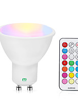 cheap -YWXLIGHT® 1pc 5 W 200-300 lm GU10 LED Spotlight 1 LED Beads COB Dimmable / Remote-Controlled RGBW / RGBWW 85-265 V