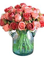 baratos -Flores artificiais 12 Ramo Clássico / Solteiro (L150 cm x C200 cm) Estiloso / Pastoril Estilo Rosas Flor de Mesa