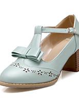 Недорогие -Жен. Комфортная обувь Полиуретан Лето Обувь на каблуках На толстом каблуке Белый / Синий / Розовый