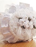 abordables -Tissus Imitation Perle / Dentelle / Châssis / rubans Satin Oreiller d'anneau Thème plage / Thème jardin / Thème papillon Toutes les Saisons