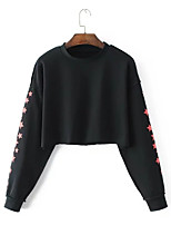 cheap -women's long sleeve sweatshirt - letter round neck