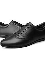 cheap -Men's Cowhide Spring &  Fall Comfort Sneakers Black / Brown