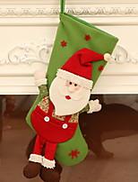 abordables -Medias de Navidad Vacaciones Tejido de Algodón Cuadrado Novedades Decoración navideña