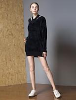 billige -Dame Aktiv Pullover - Ensfarvet